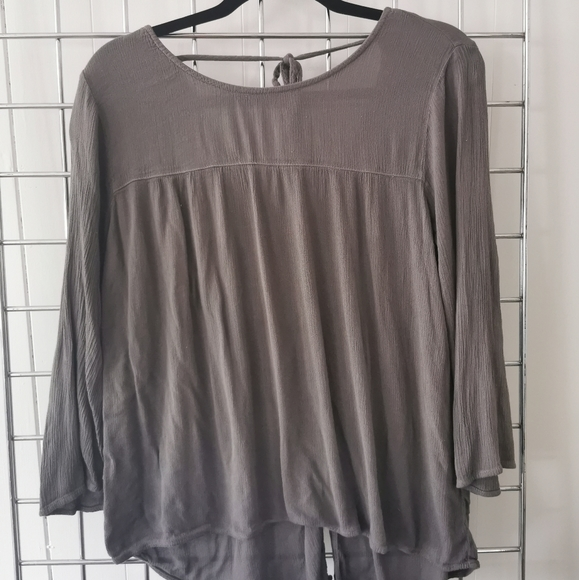 4 for $20 Flowy Blouse with Tie-up Neck Detail